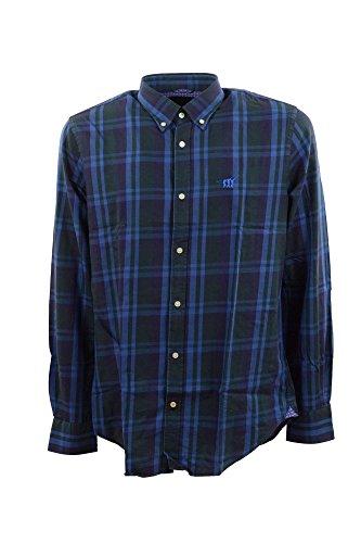 Camicia Uomo Henry Cotton's 50015 80 26272 Blu Autunno/Inverno Blu 43