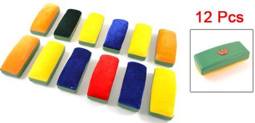 [해외]플라스틱 하우징 라운드 코너 화이트 보드 지우개 (12) PC를 ??그린/Plastic Housing Round Corner Whiteboard Eraser 12 Pcs Green