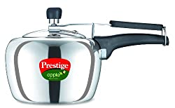 Prestige Apple Plus Induction Base Aluminium Pressure Cooker, 2 Litres