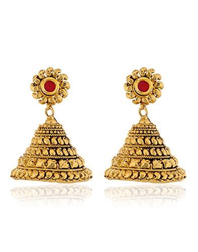 Zaveri Pearls South Pattern Jhumki Earring-ZPFK2840