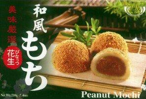 Gâteaux dessert japonais MOCHI AUX CACAHUÈTES, Boîte de 6 pièces, 210 g