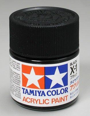Tamiya Acrylic X1 Gloss,Black TAM81001 - 1