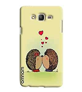 Omnam Two Animal Kissing And Expressing Love Printed Designer Back Cover Case For Samsung Galaxy On 5