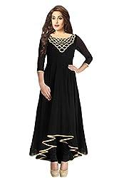 Starword Beautiful Heavy Black Beauty Semi stiched Dress Material High Qualitty
