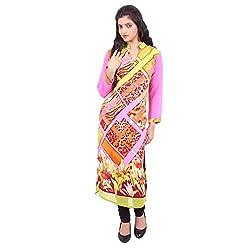 Radhya Women's Unstiched Kurti (Pan18_Multi Color)