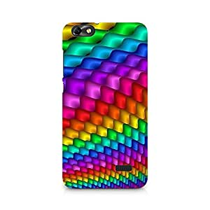 MOBICTURE Coloured Pattern Premium Designer Mobile Back Case Cover For Huawei Honor 4C