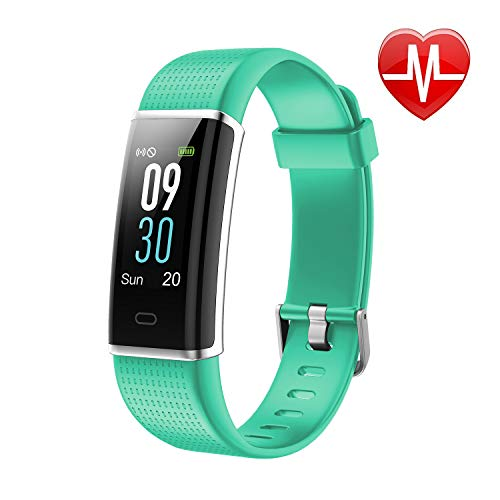 LETSCOM Fitness Tracker, Heart Rate Monitor Watch with Color Screen, IP68 Waterproof, Step Counter, Calorie Counter, Sleep Monitor, Pedometer, Bluetooth Smart Watch for Kids Women and Men