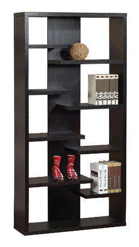 Enitial Lab Udele 8-Shelves Display Stand, Espresso front-804013