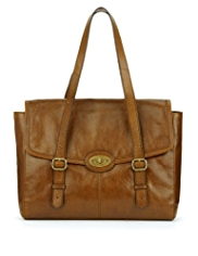 M&S Collection Leather Buckle Tote Bag