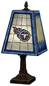 NFL 14 inch Art Glass Table Lamp by The Memory Company