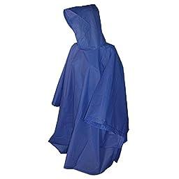 Totes Royal Blue Adult Rain Poncho, One Size