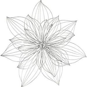 Cut-Out Flower Metal Wall Art - Silver (117150266)