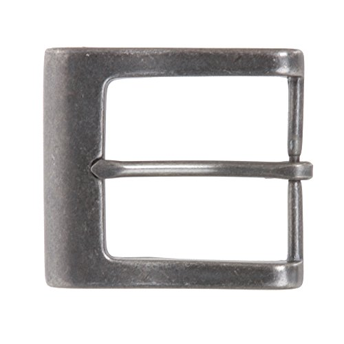 """BELTISCOOL 1 1/2"""" (38 mm) Nickel Free Single Prong Square Belt Buckle Color: Silver Grey"""