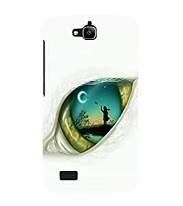 printtech Eye Girl look View Back Case Cover for Huawei Honor Holly