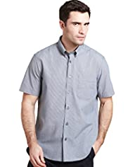 XXXL Button-Down Collar Checked Shirt