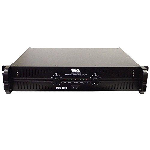 Seismic Audio - MBG-4000 - Power Amplifier - 2 x 500 Watts at 8 Ohms - 2 x 1000 Watts at 4 ohms - Amp