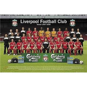 Liverpool Team Photo Poster 07/08