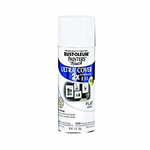 Rust-Oleum 249126 Painter's Touch Multi Purpose Spray Paint, 12-Ounce, Flat White