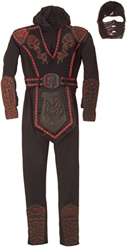 Rubies Red Skull Warrior Ninja Child Costume, Large, One Color