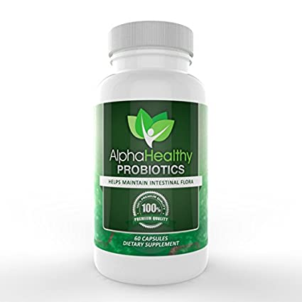 Probiotics - *#1 Rated* Custom All Natural Formula Ensures Optimal Health For Women, Men & Kids! - Improve Your Immune System, Energy, Colon Health, Digestion And Help Weight Loss - Scientifically Formulated To Ensure Quality With Acidophilus, Billions Of Live Cultures & Intestinal Flora In Every Serving - AlphaHealthy Probiotic Pills Come With A LifeTime Guarantee! - ***Experience An Improvement In Health Or Get 200% Of Your Money Back!***