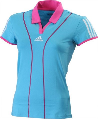 Adidas Barricade Cap Polo Women's Polo Shirt/Top short sleeved Sports Training Tennis Court Clothing ClimaCool Formotion Blue UK Size 12