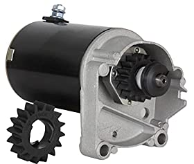 STARTER MOTOR BRIGGS & STRATTON 14 16 18 HP STARTER 497596 V TWIN WITH FREE GEAR