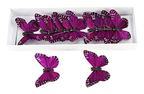 Shinoda Design Center 0165500210 12 Piece Butterfly Decor, 3