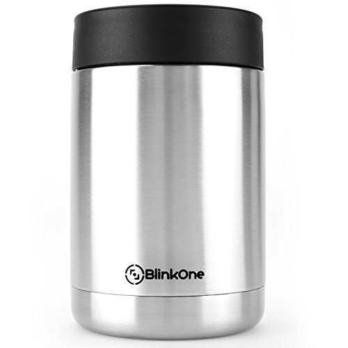 BlinkOne Can Cooler: Stainless Steel Beverage Bottle Insulator Holder and Cooling Jar (12 Oz) (12 Can Beverage Cooler compare prices)