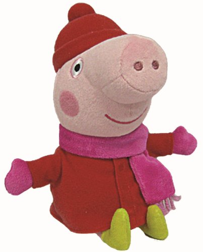 Peppa Pig invierno - Peluche de 16 cm