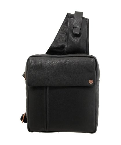 1642 Leather Mens Across Body Organiser Bag 8374 Black