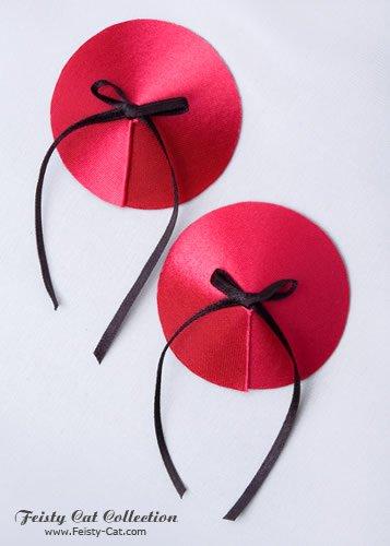 hubsche-satin-pasties-mit-schleifchen-teazer-rot-schwarz
