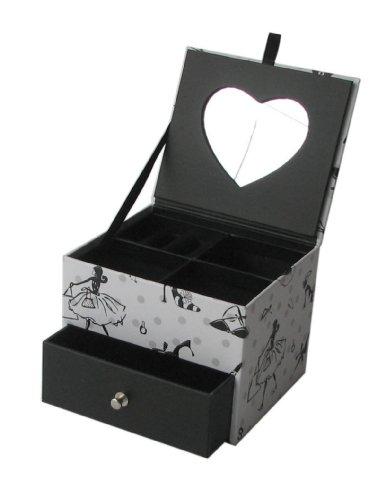 Small Square Sexy Boudoir Pattern Card Jewellery Box
