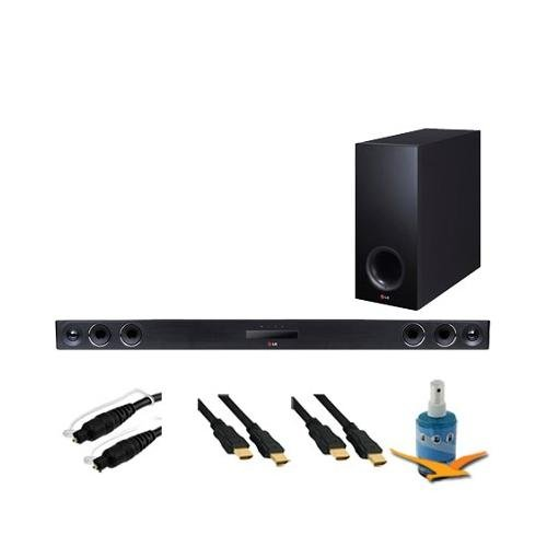 Lg 320W 4.1Ch Smart Streaming Sound Bar W/ Wireless Subwoofer Hook-Up Bundle Nb3740