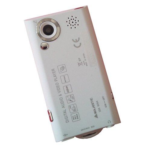 """Majestic 118064_WH Lettore MP3/MP4 con Fotocamera, Display 2.4"""", Radio e Registratore Vocale, Bianco"""