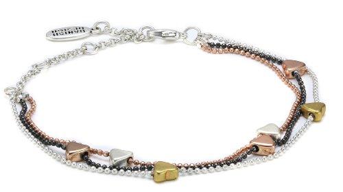 Pilgrim Mixed Gold, Silver and Hematite Plated Valentine Bracelet
