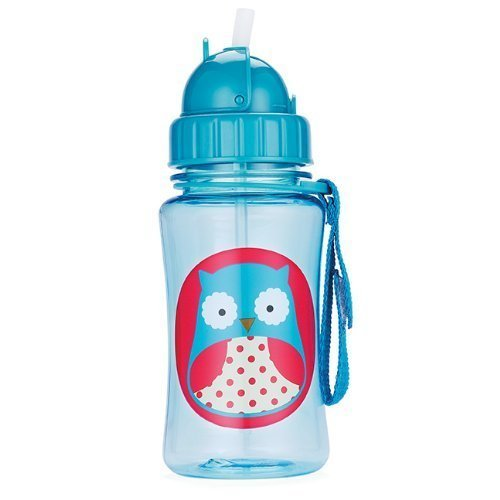 Skip Hop Drinking Bottle With Straw Spout Zoo Owl By Skip Hop