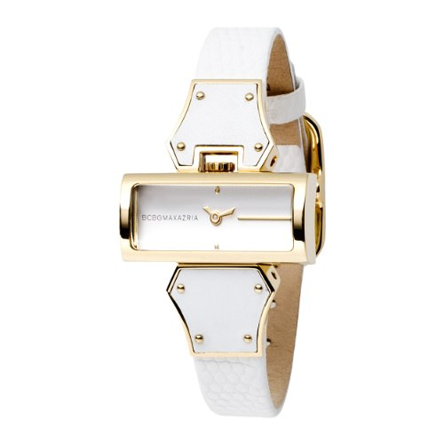 BCBGMAXAZRIA Ladies Watch BG6227 with White Leather Strap