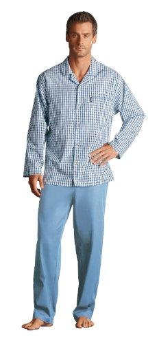jockey-pigiama-due-pezzi-con-bottoni-maniche-lunghe-uomo-blu-x-large