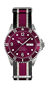 Oxygen Grape 36 Unisex Quartz Watch with Red Dial Analogue Display and Multicolour Nylon Strap EX-D-GRA-36-NN-BLIVPL