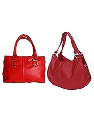 Arc HnH Women Handbag Combo Buckle + Palatial - Red
