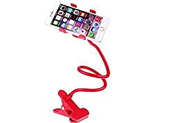 Micomy Universal Long Lazy Flexible Mount Mobile Holder with Snake Style Stand -Red