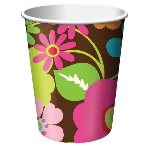 Creative Converting Rachel's Garden Designer 9 oz. Paper Cup - 1