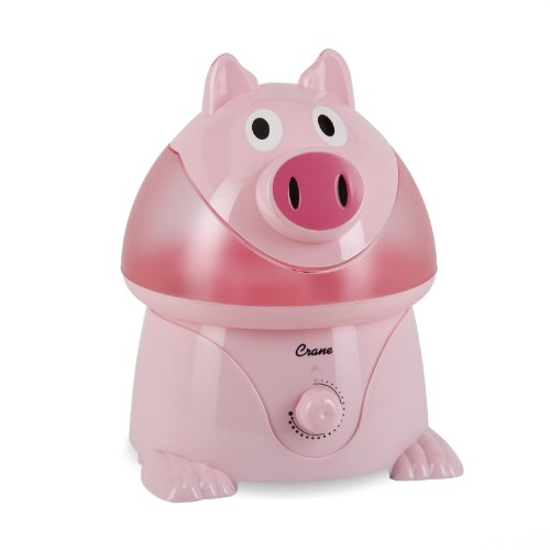Crane Adorable Ultrasonic Cool Mist Humidifier with 2.1 Gallon Output per Day - Pig - 1
