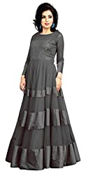 Jiya Presents Soft Net Stitched Gown(Gray)