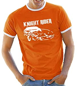 Knight Rider Contrast T-Shirt S-XXL Various Colours orange/white Size:S