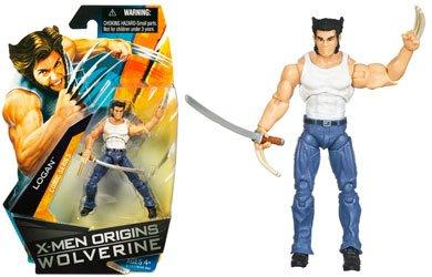 Buy Low Price Hasbro X-Men Origins Wolverine Comic Series 3 3/4 Inch Action Figure Logan (White Tee and Sword) (B001SRFMHA)