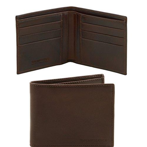Tuscany Leather Esclusivo portafoglio uomo in pelle 2 ante Testa di Moro