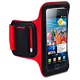 SAMSUNG GALAXY S2 CUSTOM MADE SHOCKSOCK SPORTS ARMBAND / CASE / COVER / HOLDER - REDby Shocksock