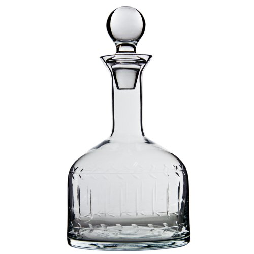 """Etched 11.8"""" Clear Glass Decanter With Stopper front-213298"""