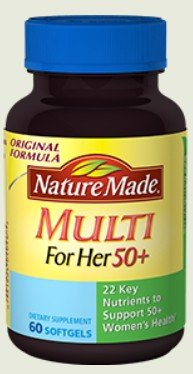 Nature Made Multi 50+ For Her 60 Liquid Softgels (Pack of 2) (Womans Vitamins Nature Made compare prices)